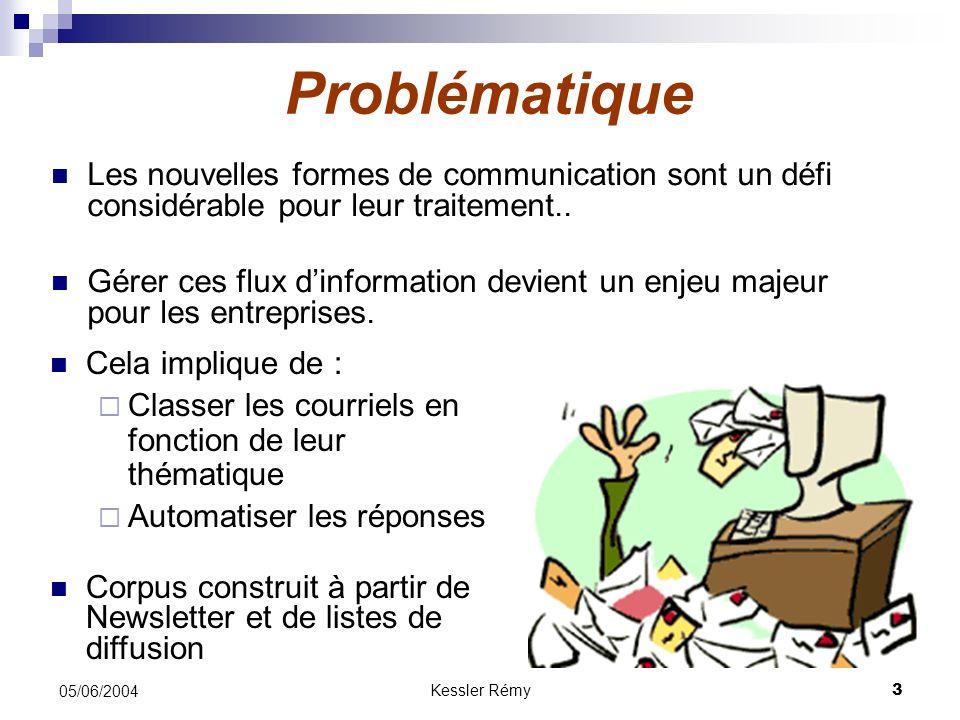 Problématique Les nouvelles formes de communication sont un défi considérable pour leur traitement..