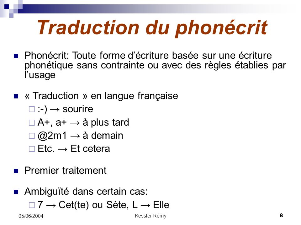 Traduction du phonécrit