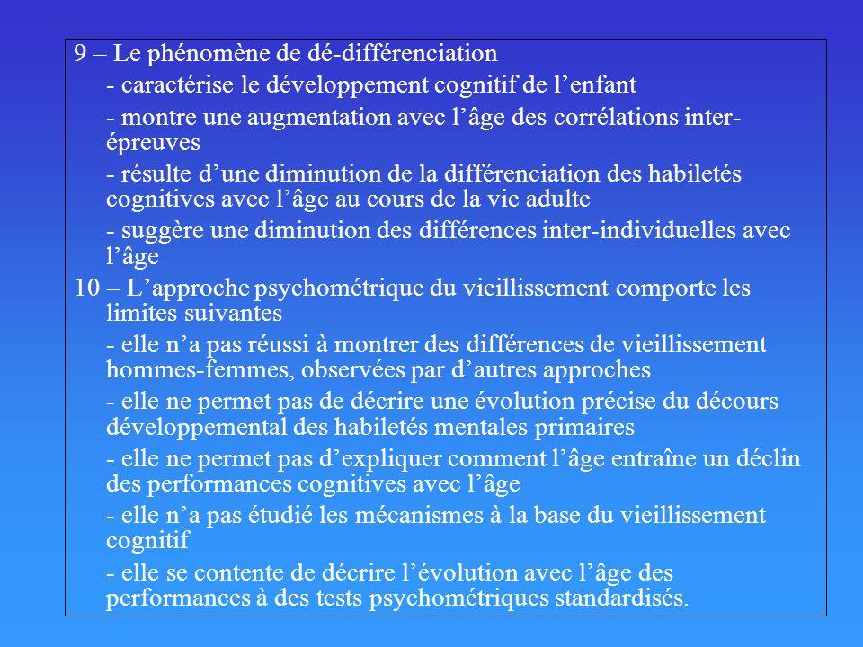 9 – Le phénomène de dé-différenciation
