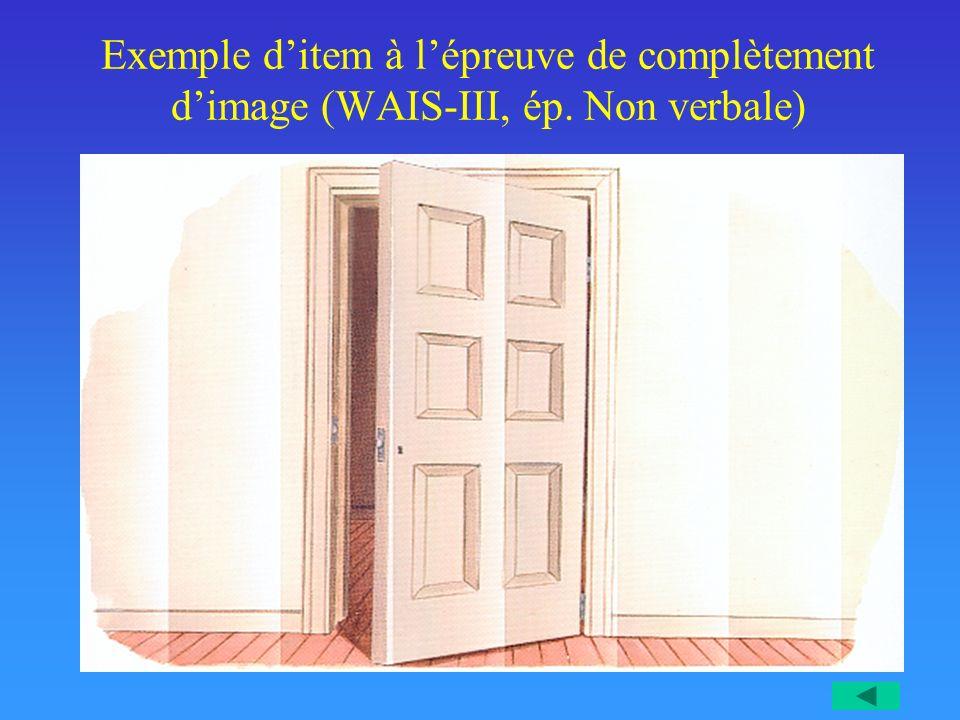 Exemple d'item à l'épreuve de complètement d'image (WAIS-III, ép