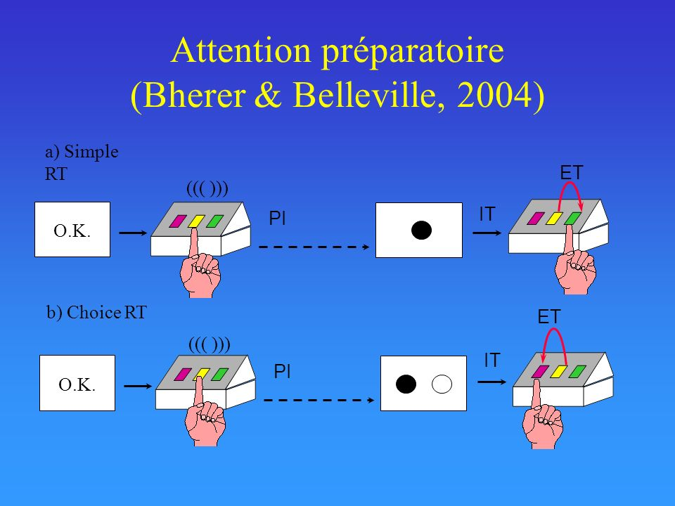 Attention préparatoire (Bherer & Belleville, 2004)