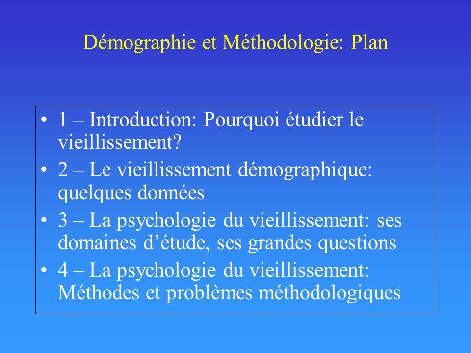 Démographie et Méthodologie: Plan