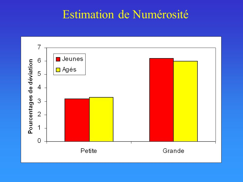 Estimation de Numérosité