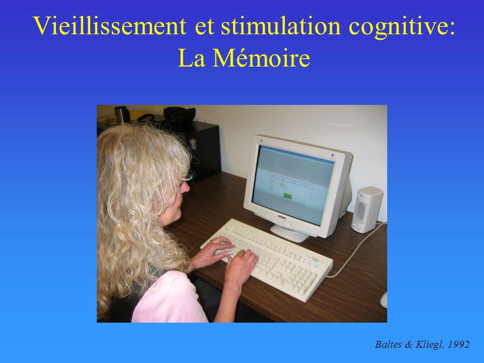 Vieillissement et stimulation cognitive: La Mémoire