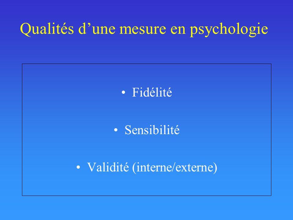 Qualités d'une mesure en psychologie