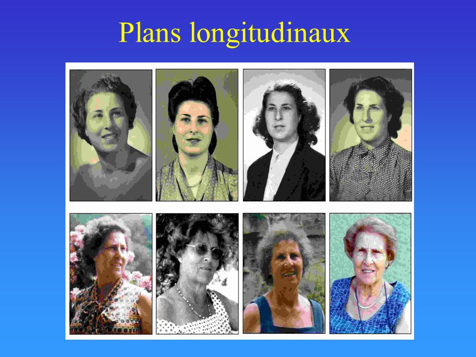 Plans longitudinaux