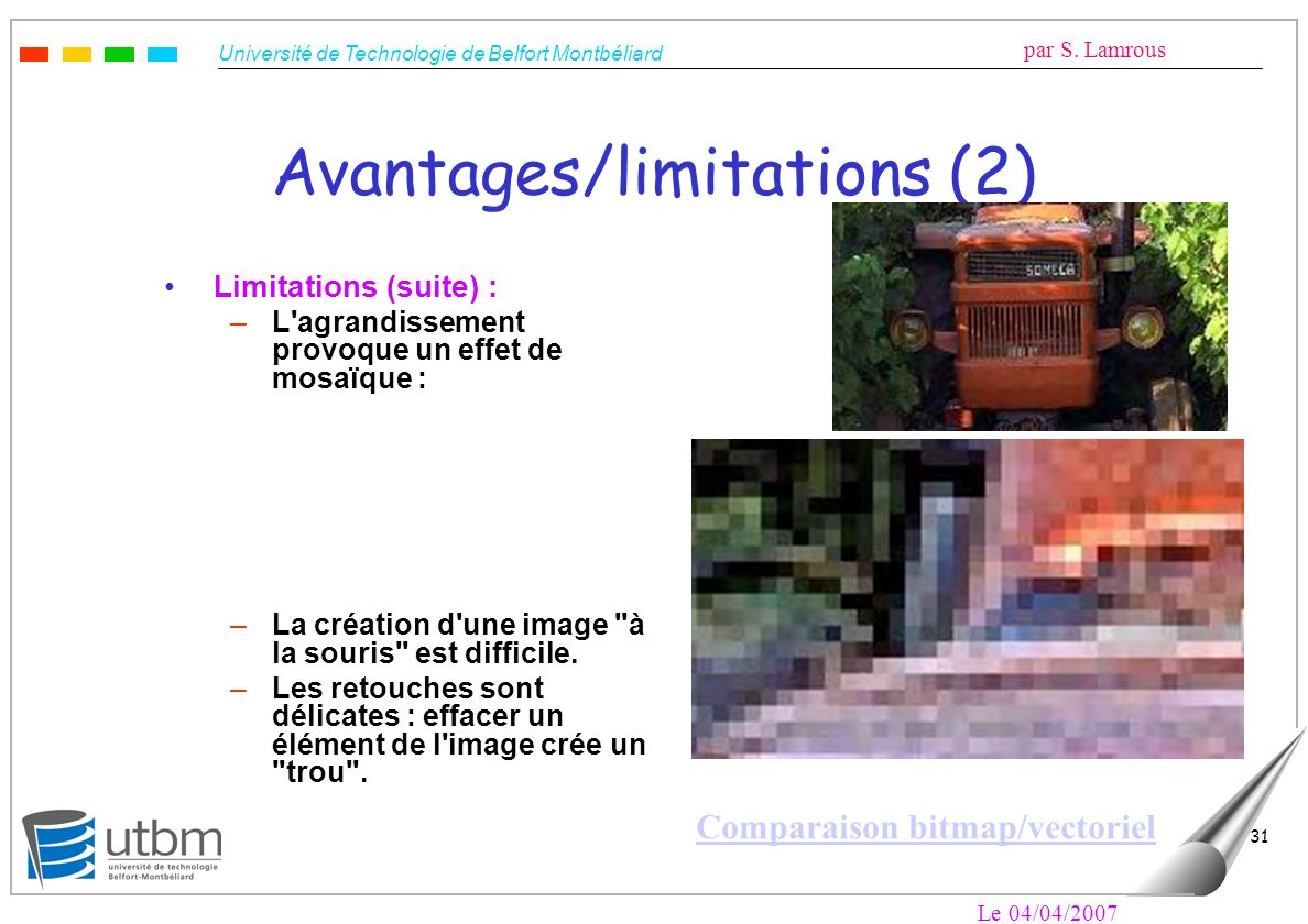 Avantages/limitations (2)