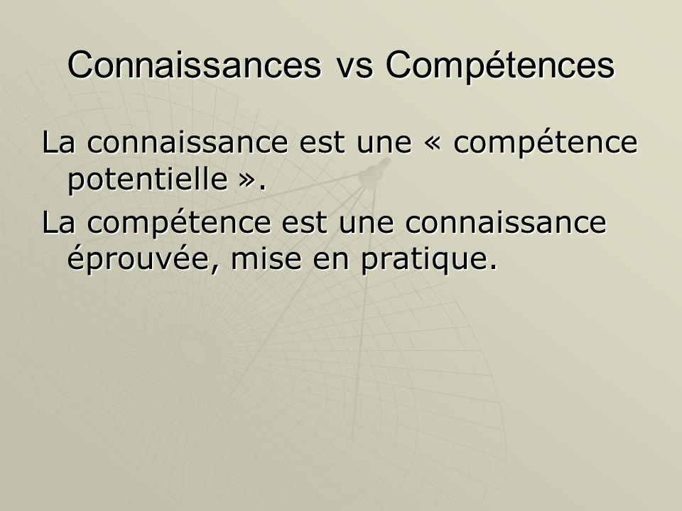 Connaissances vs Compétences