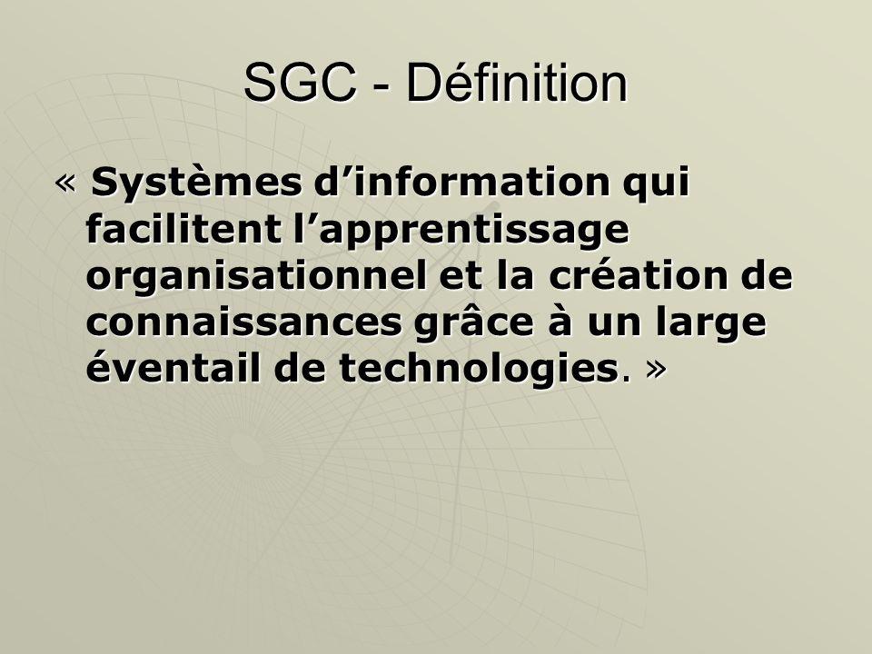 SGC - Définition