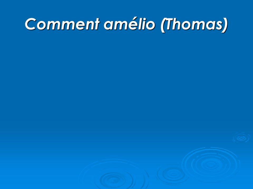 Comment amélio (Thomas)