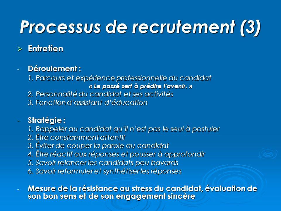 Processus de recrutement (3)