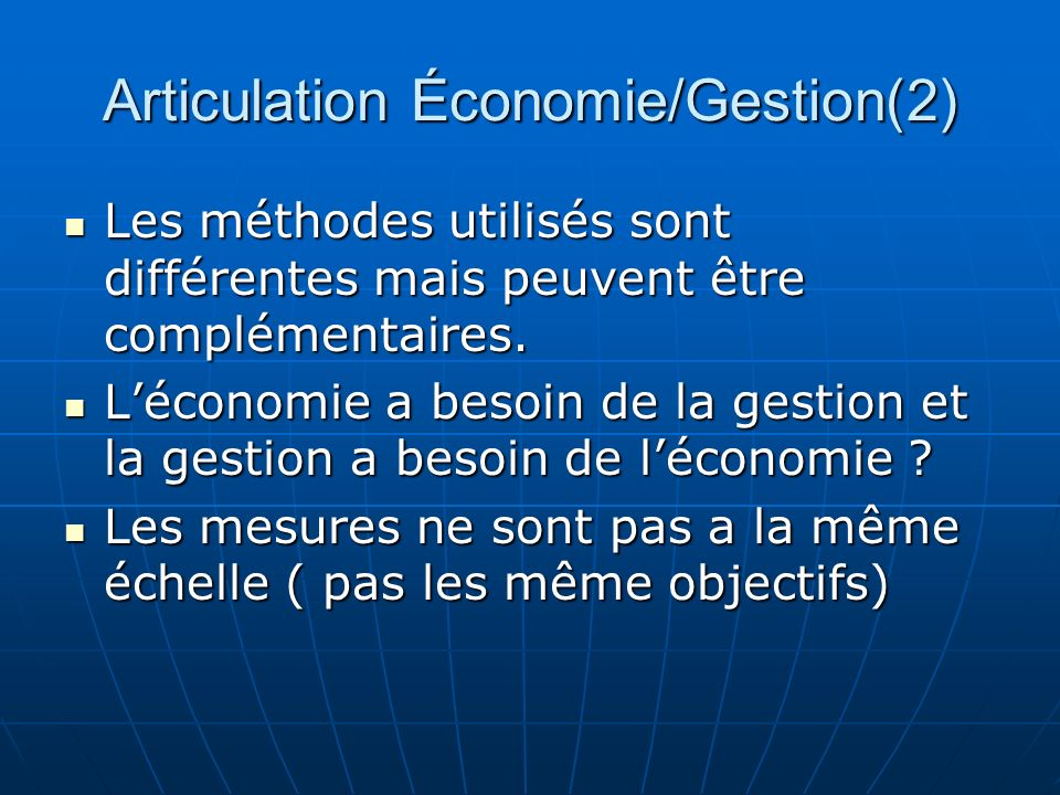 Articulation Économie/Gestion(2)
