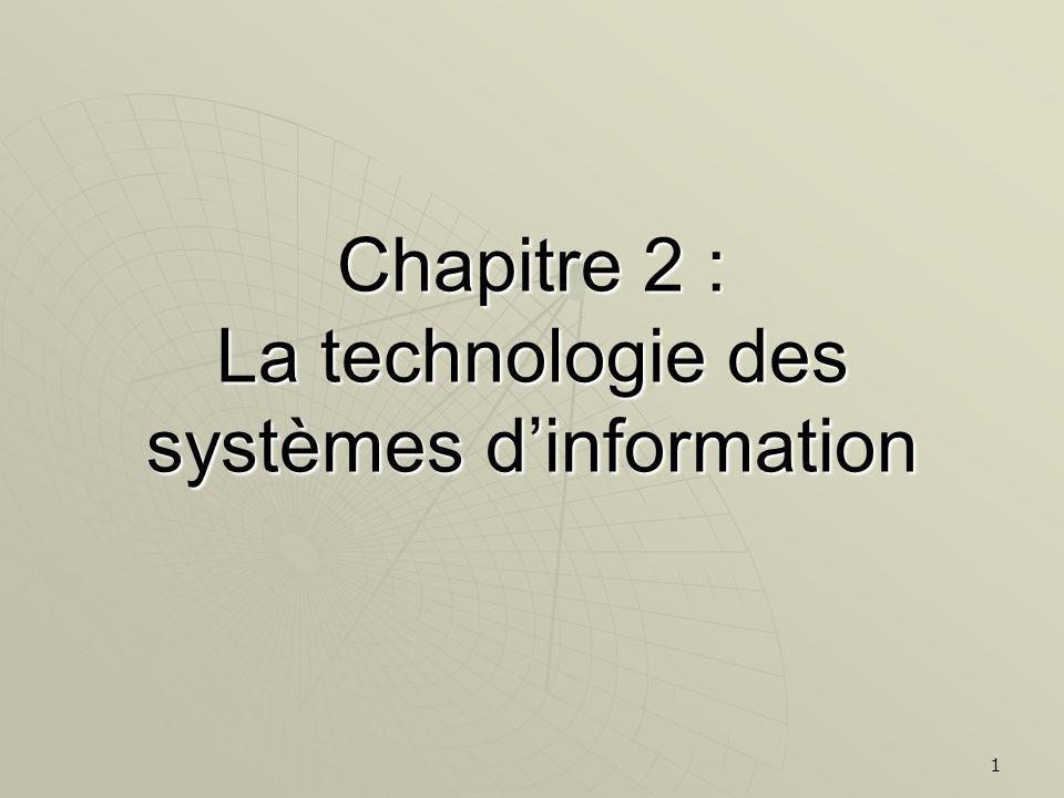 Chapitre 2 : La technologie des systèmes d'information