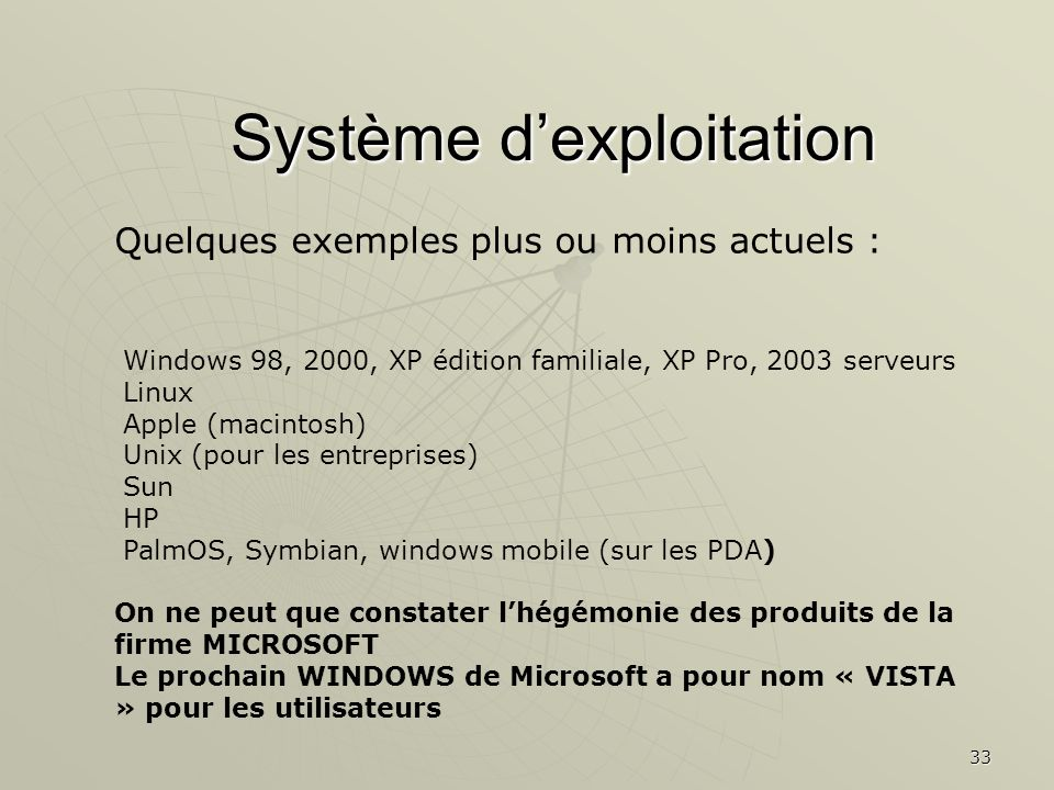Système d'exploitation