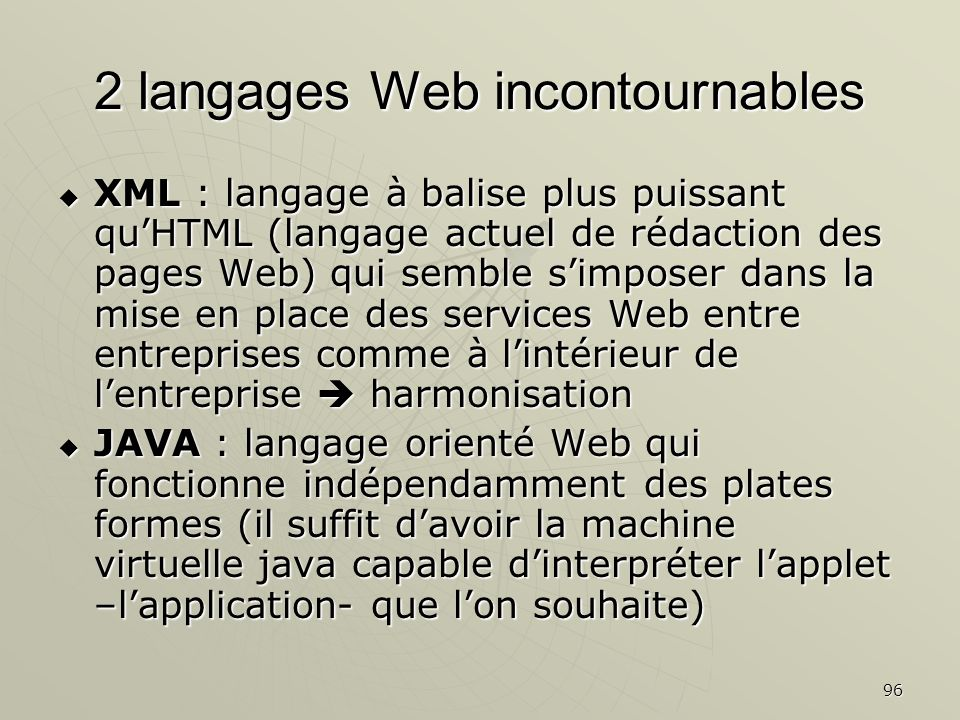2 langages Web incontournables