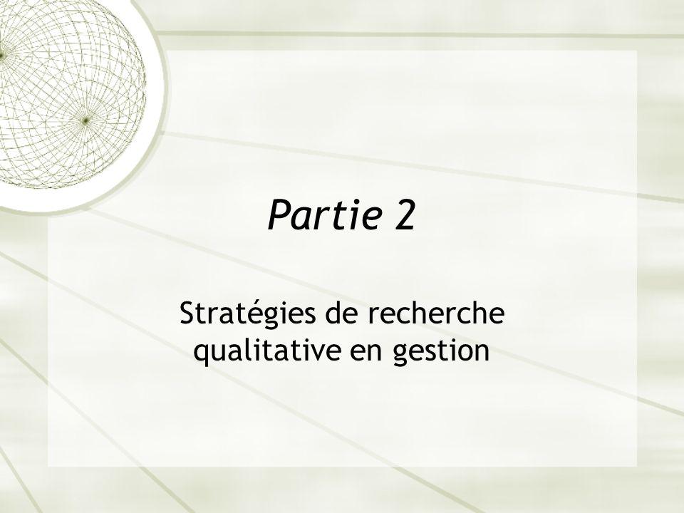 Stratégies de recherche qualitative en gestion