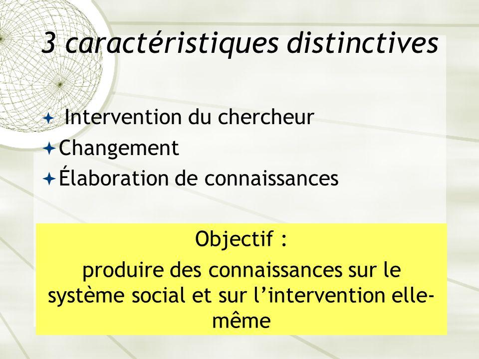 3 caractéristiques distinctives