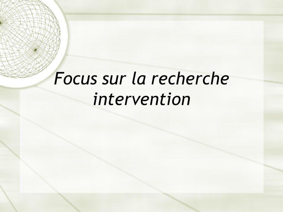 Focus sur la recherche intervention