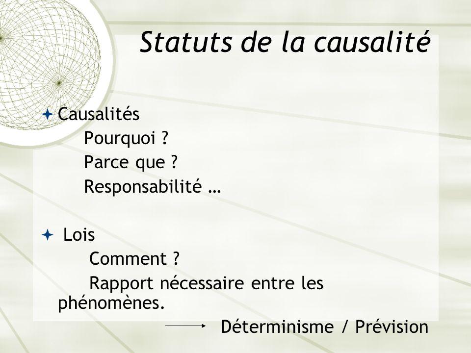 Statuts de la causalité