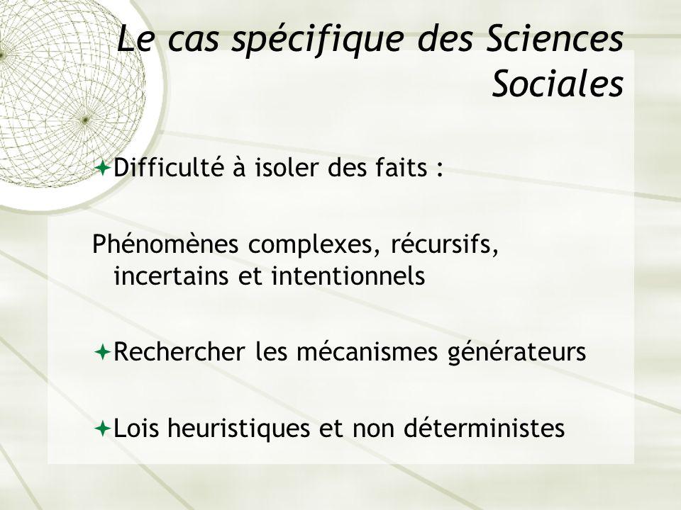 Le cas spécifique des Sciences Sociales