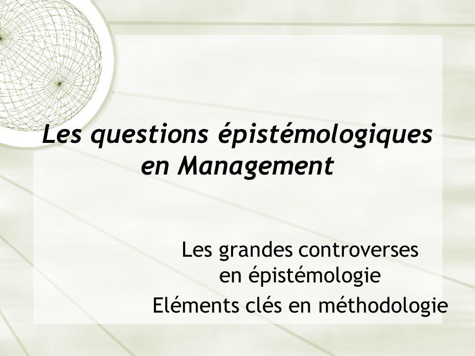Les questions épistémologiques en Management