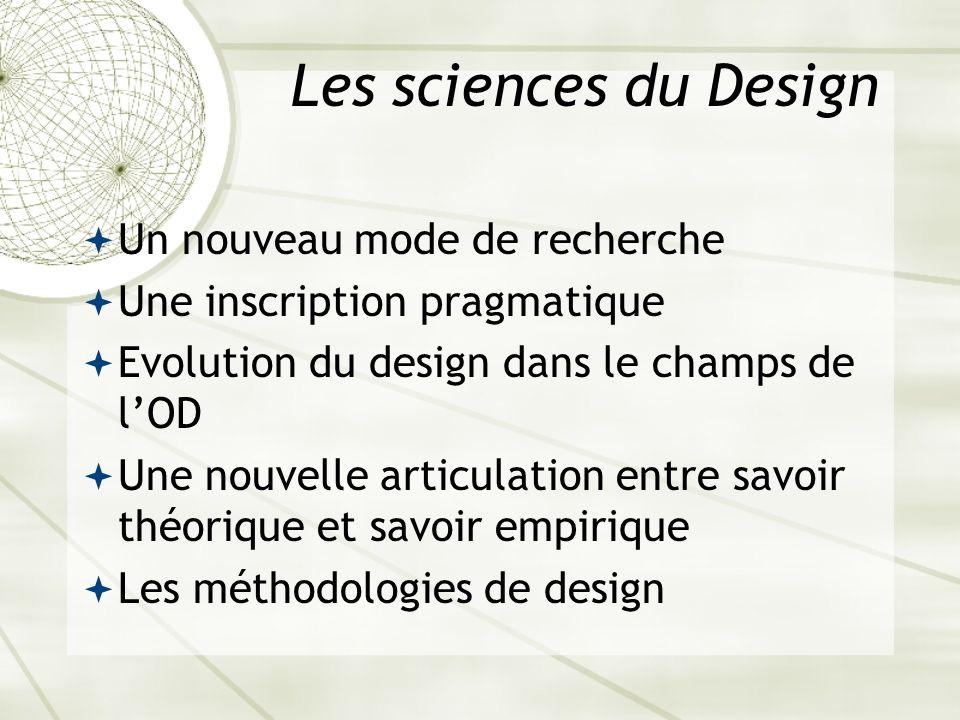 Les sciences du Design Un nouveau mode de recherche