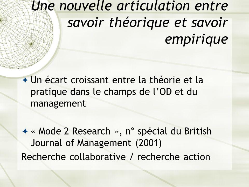 Une nouvelle articulation entre savoir théorique et savoir empirique