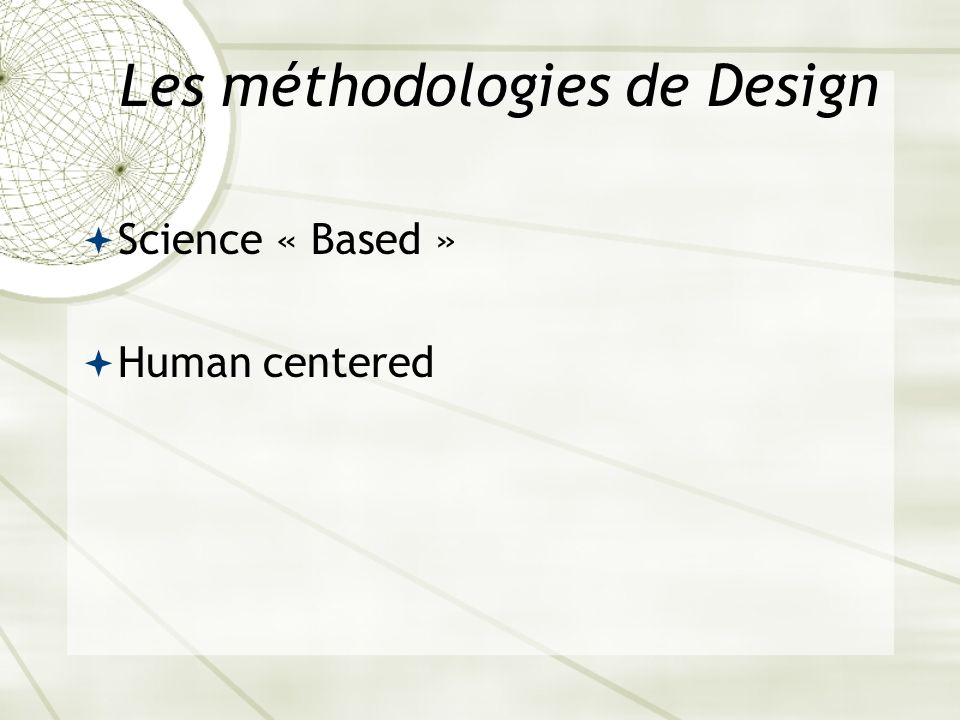 Les méthodologies de Design