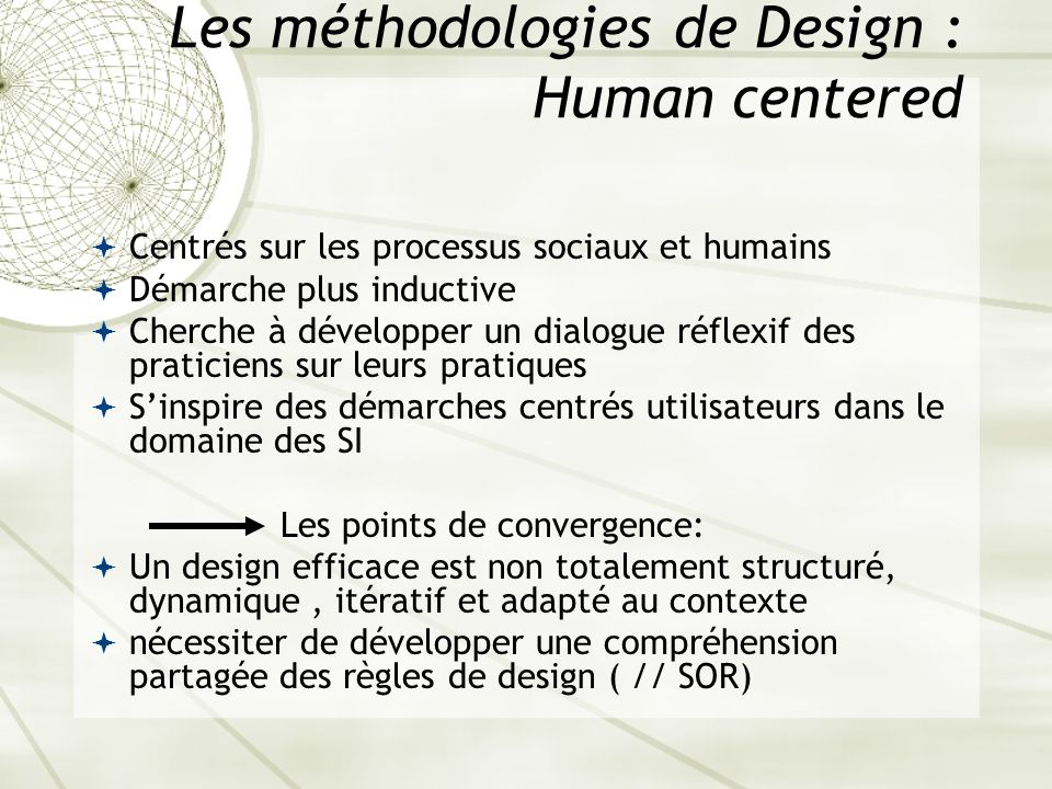 Les méthodologies de Design : Human centered