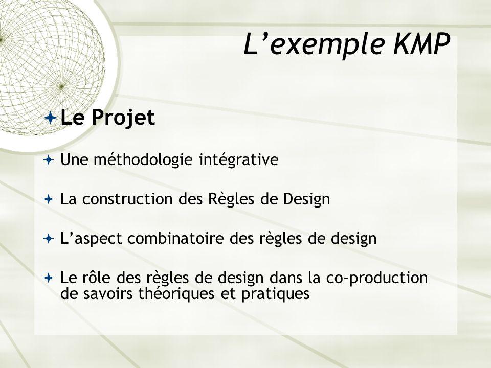 L'exemple KMP Le Projet Une méthodologie intégrative