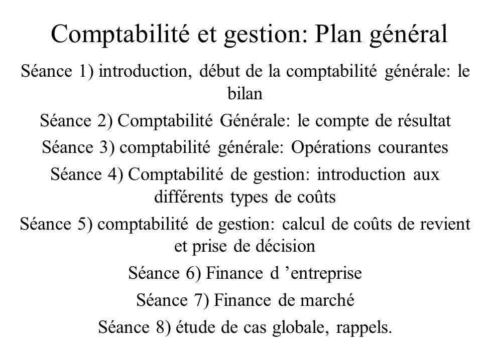 Comptabilité et gestion: Plan général