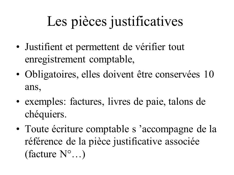 Les pièces justificatives