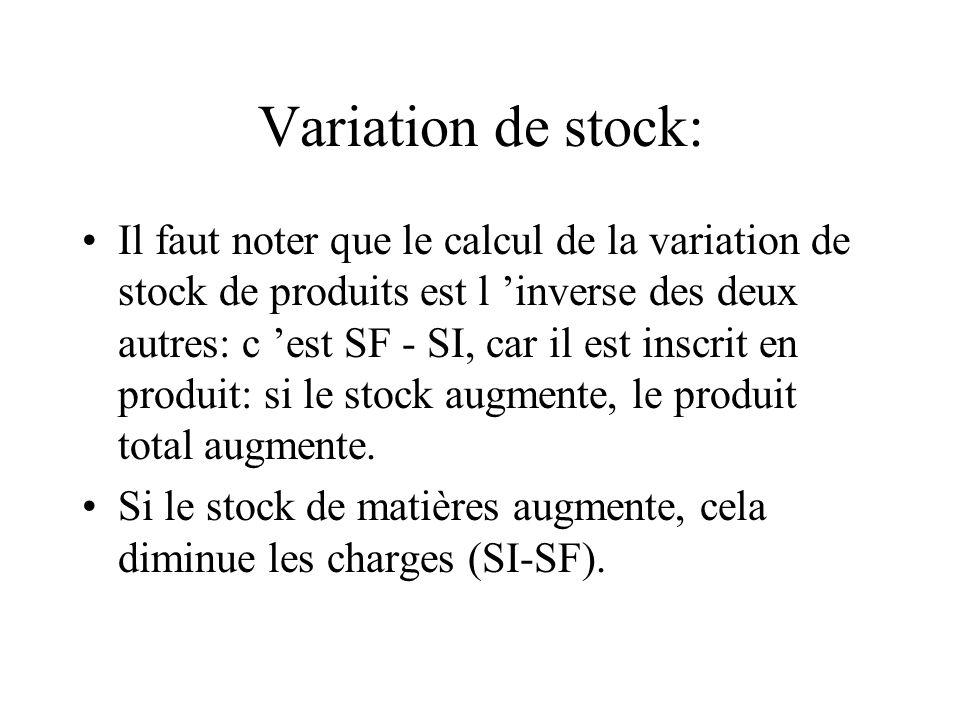Variation de stock: