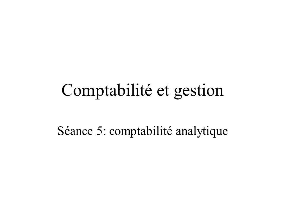 Comptabilité et gestion