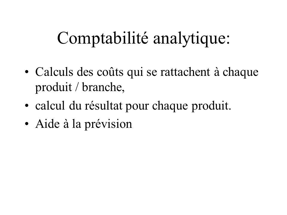 Comptabilité analytique: