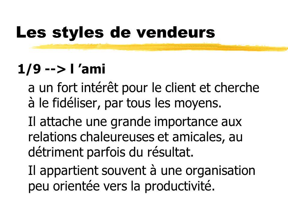 Les styles de vendeurs 1/9 --> l 'ami