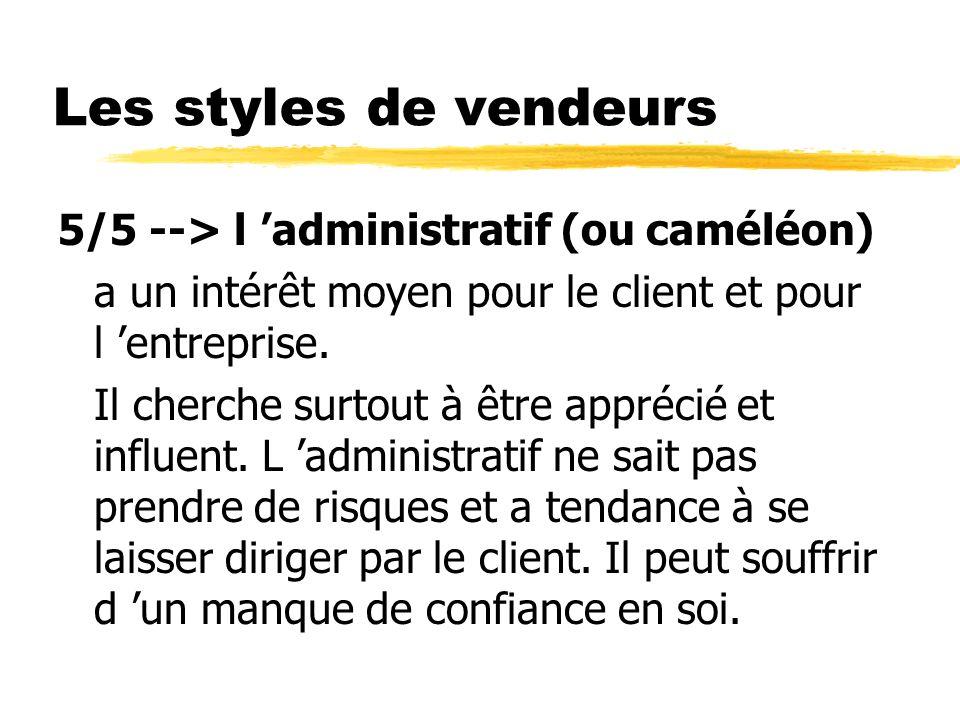 Les styles de vendeurs 5/5 --> l 'administratif (ou caméléon)