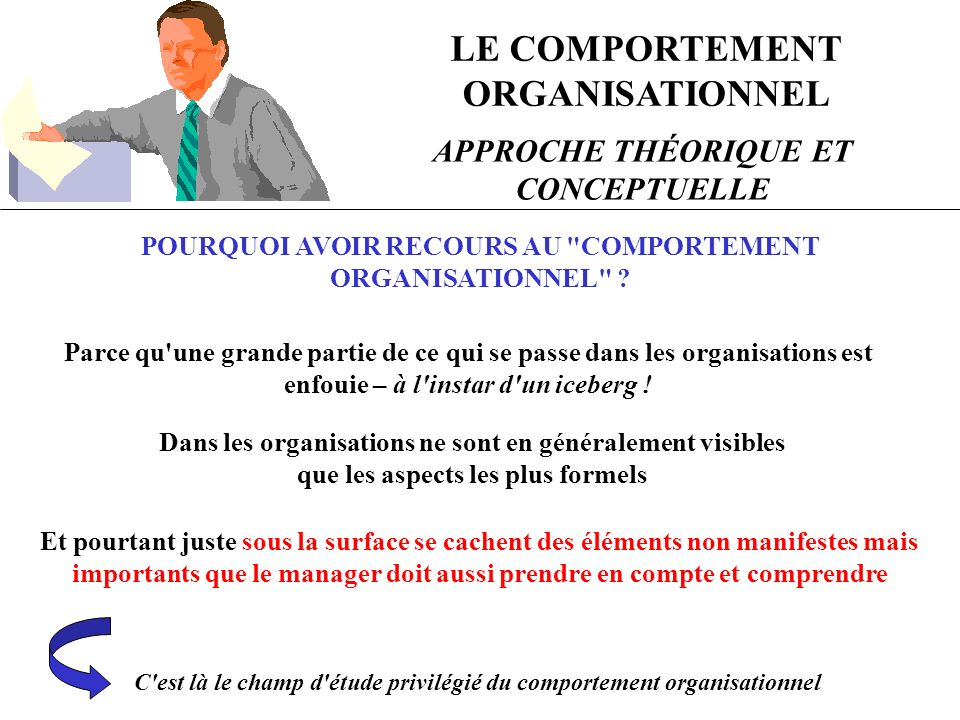 LE COMPORTEMENT ORGANISATIONNEL