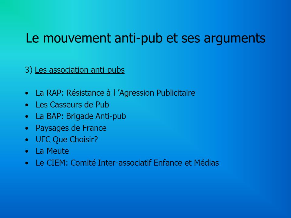 Le mouvement anti-pub et ses arguments