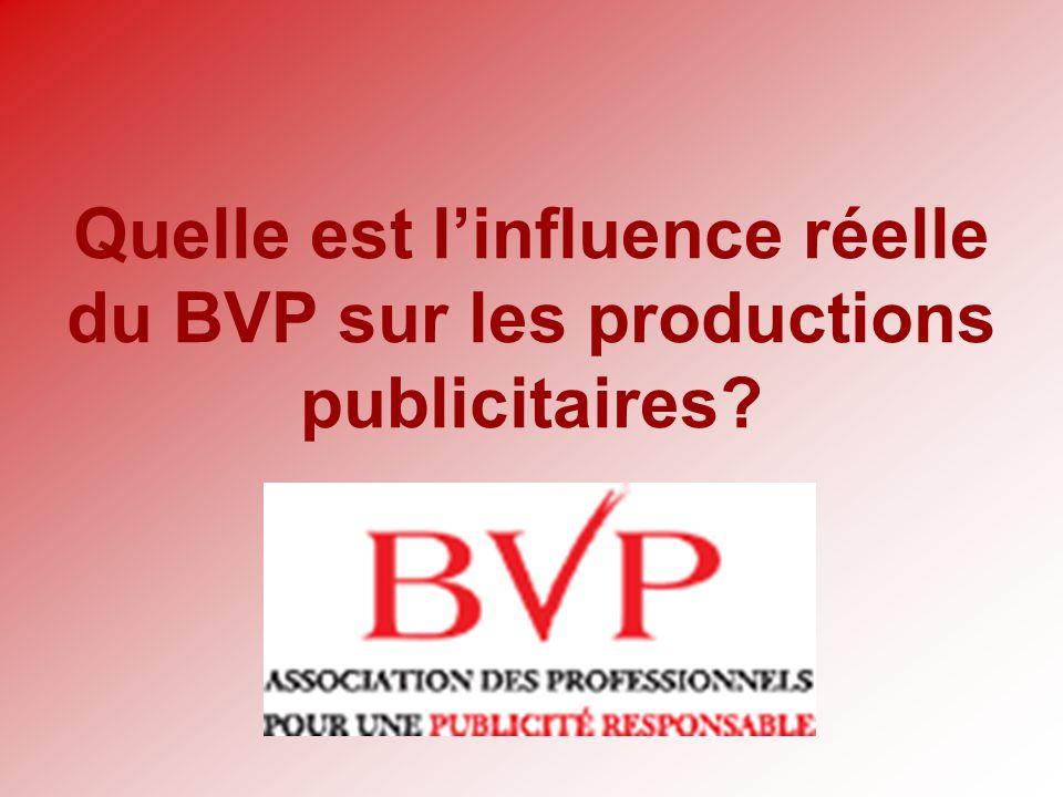 Quelle est l'influence réelle du BVP sur les productions publicitaires