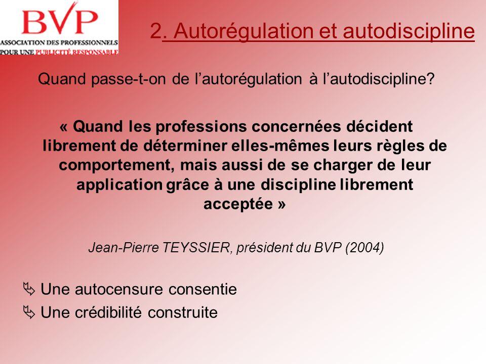 2. Autorégulation et autodiscipline