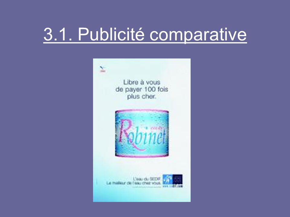 3.1. Publicité comparative