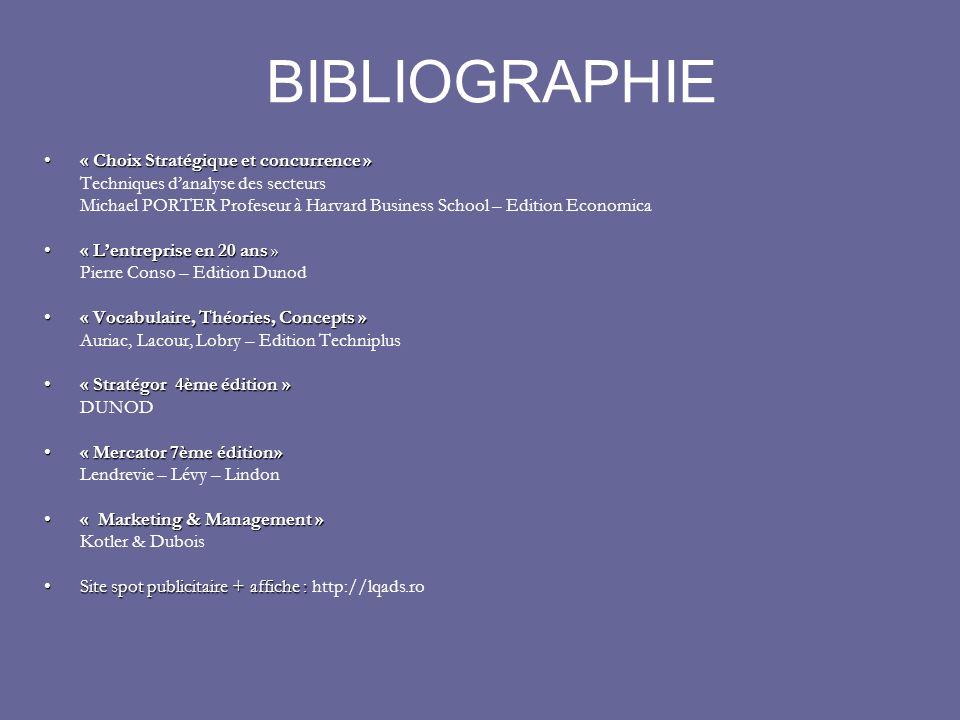 BIBLIOGRAPHIE « Choix Stratégique et concurrence »