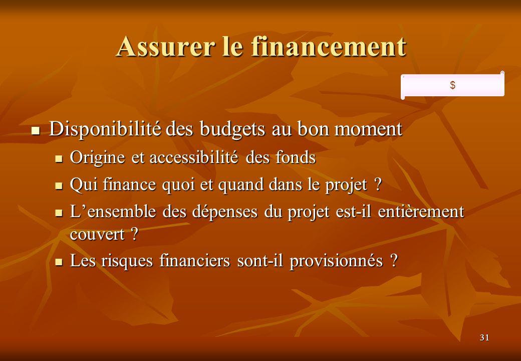 Assurer le financement