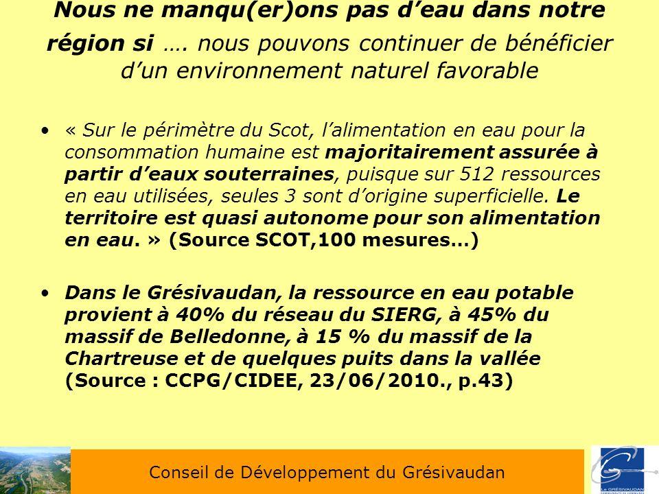 Conseil de Développement du Grésivaudan