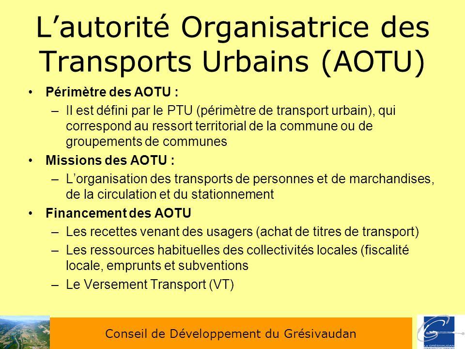 L'autorité Organisatrice des Transports Urbains (AOTU)