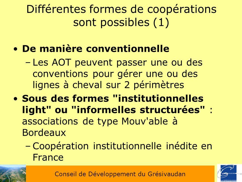 Différentes formes de coopérations sont possibles (1)