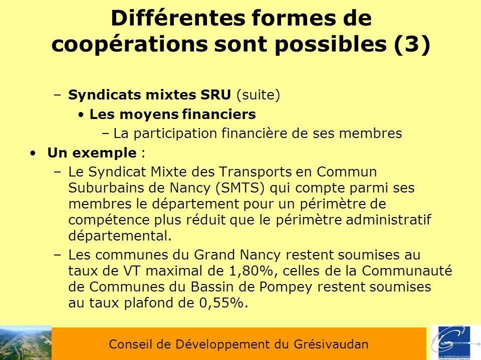 Différentes formes de coopérations sont possibles (3)