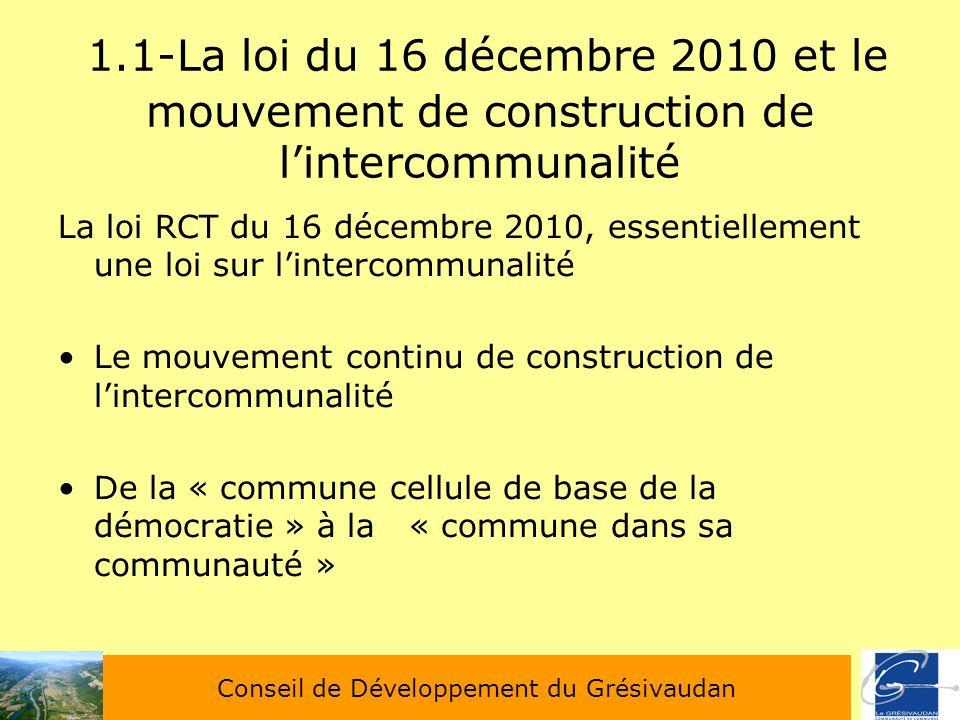 Demain quelle s intercommunalit s pour le gr sivaudan for Loi sur les constructions