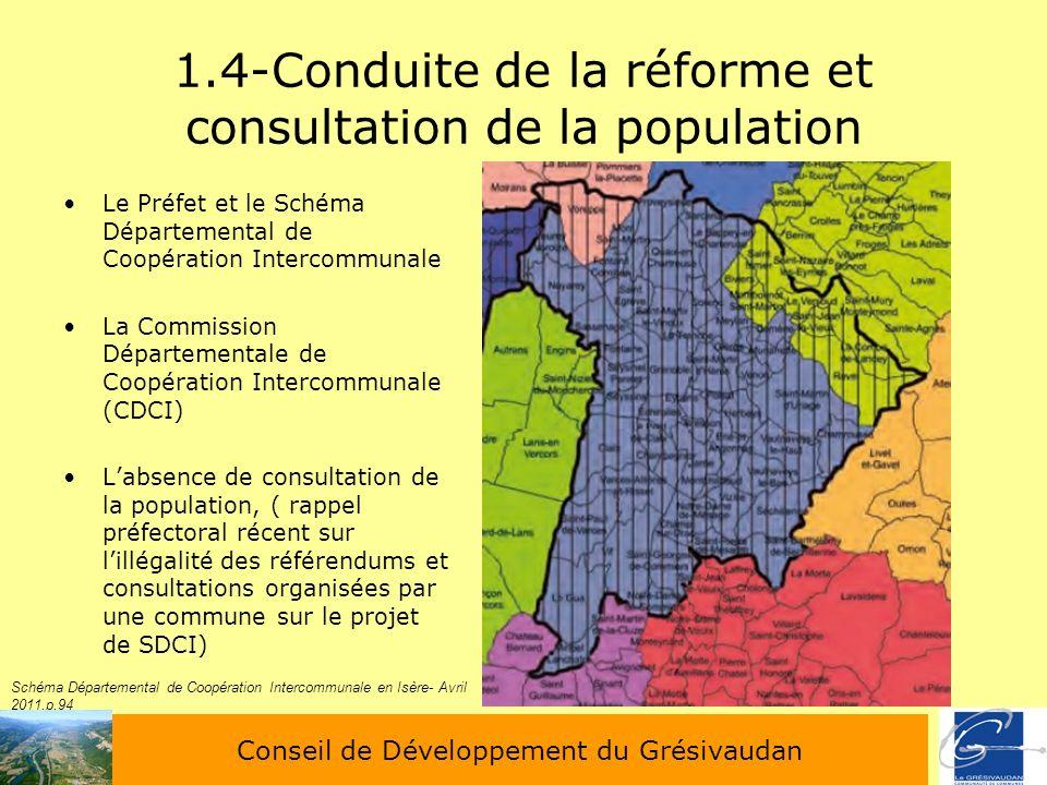 1.4-Conduite de la réforme et consultation de la population